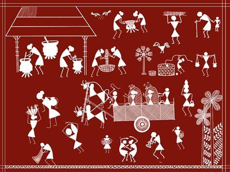 warli paintings  ancient indian folk art