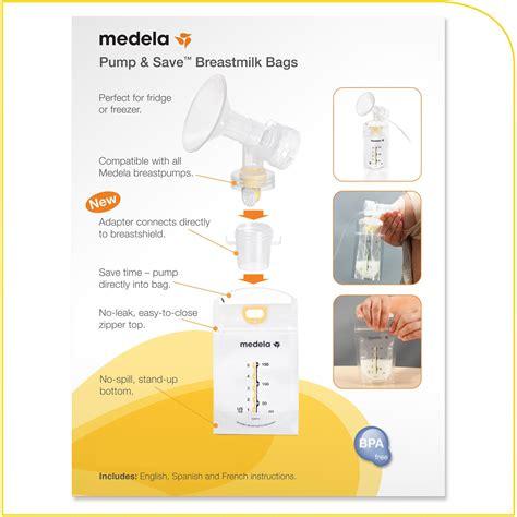 Amazoncom Medela Pump And Save Breast Milk Bags 50