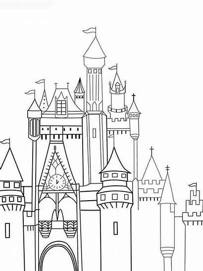 Castle Coloring Disneyland Schloss Ausmalbilder Kleurplaat Parijs