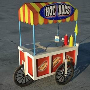 Hot Dog Stand : hotdog stand 3d model ~ Yasmunasinghe.com Haus und Dekorationen