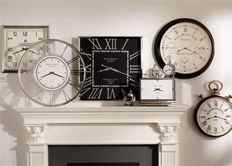 Nickel And Black Wall Clock Ethan Allen Living Room