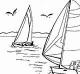 Sea Coloring Sails Coloringcrew sketch template