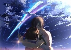 Wallpaper kimi no na wa,taki x mitsuha,romance,happy tears ...