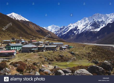Kyanche Gompa (village) At The Langtang Valley With Tsergo