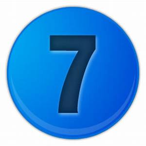 blue number 7 png image | Royalty free stock PNG images ...
