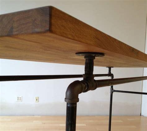 steel pipe desk legs galvanized steel desk with handmade american oak top