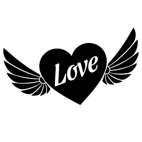 sticker coeur avec ailes stickers fetes stickers saint
