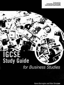 50791149 Igcse Study Guide For Business Studies