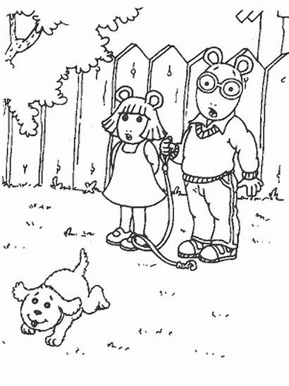 Arthur Coloring Pages Friends Cartoons Printable Colouring