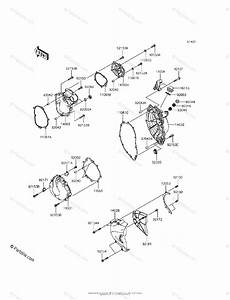 Kawasaki Motorcycle 2013 Oem Parts Diagram For Engine Cover S