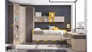 Lit Enfant Garcon : chambre enfant garcon avec lit sur lev glicerio so nuit ~ Farleysfitness.com Idées de Décoration