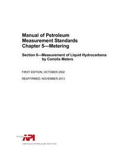 API MPMS Chapter 5.6 (R2013)