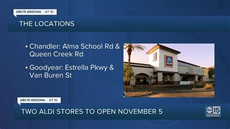 Aldi announces opening dates for Chandler, - One News Page ...