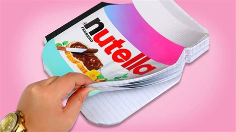 How To Make A Nutella Notebook ♥ Diy Youtube