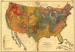 Print of Geological Map of the U.S. Poster on Vintage ...