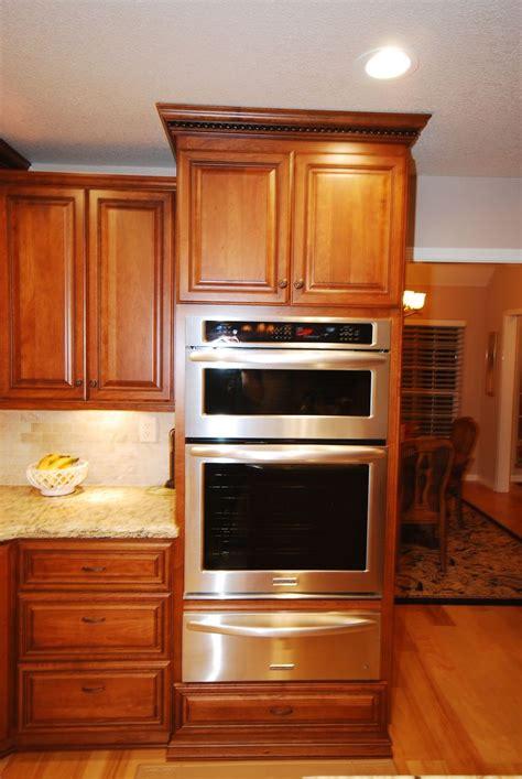 starmark cherry cabinets  kitchenaid oven microwave