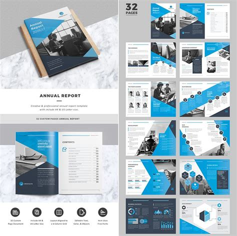 creative business indesign annual report template annual