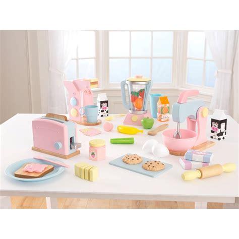 kidkraft kitchen accessories kidkraft 4 pack pastel play kitchen accessories play 2094