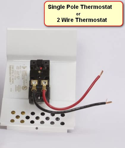 Wiring Diagram Single Pole Thermostat Double