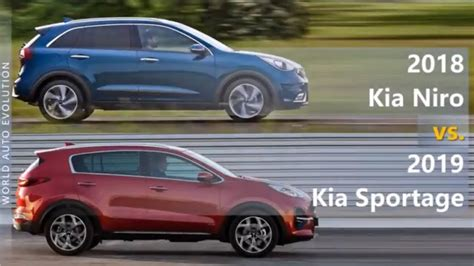 kia niro   kia sportage technical comparison