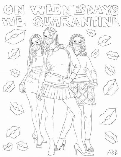 Coloring Pages Quarantine Mean Coloringpage Meangirls Pastemagazine