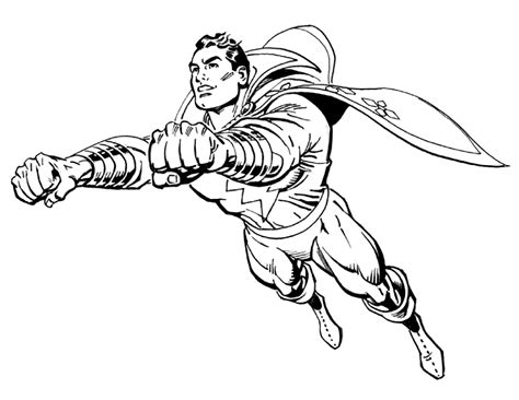 shazam coloring pages getcoloringpagescom