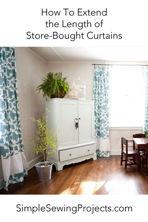 extend  length  store bought curtains