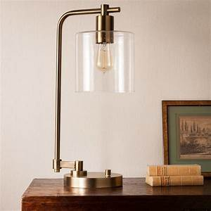 hudson industrial table lamp antique brass threshold With hudson industrial floor lamp brass threshold