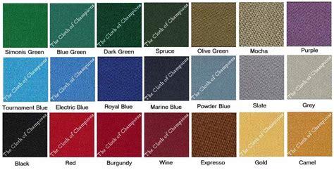pool table cloth colors 8 39 simonis 760 billiard pool table felt cloth recovering
