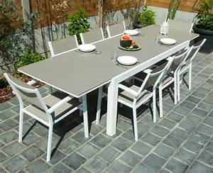 awesome table de jardin pvc blanc ovale ideas awesome With repeindre un salon de jardin en pvc