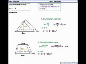 Duration Berechnen : volumen berechnen beim prisma erl uterung youtube ~ Themetempest.com Abrechnung
