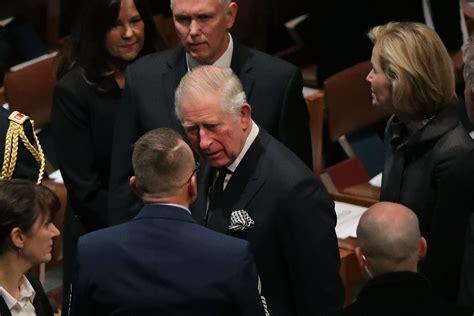 notable names  george hw bushs funeral