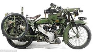 Vintage Wwi The Matchless Motorbike With Its Own Machine