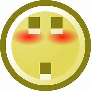 Free Blushing Smiley With Shocked Expression Clip Art ...