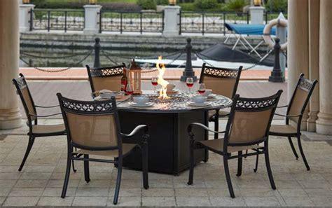 patio furniture dining set cast aluminum 60 quot propane
