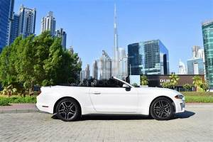 Rent Ford Mustang V6 Convertible 2018 car in Dubai: Day, monthly rental