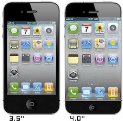 iphone 4 inch volgende iphone krijgt 4 inch scherm