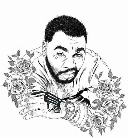 Gates Kevin Portrait Digital Drawing Behance Max