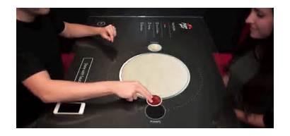 Pizza Table Hut Future Touchscreen Delivery Smartphone
