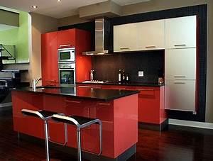 photo decoration cuisine rouge et noir 9jpg With cuisine moderne rouge et noir
