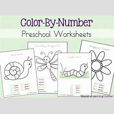Free Color By Number Preschool Worksheets  Free Homeschool Deals