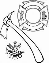 Maltese Fire Cross Coloring Firefighter Department Fireman Hat Helmet Vector Pages Rescue Extinguisher Clip Hydrant Lollipop Drawing Stencil Printable Bomberos sketch template