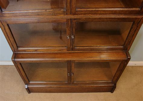 The Globe Wernicke Co Sectional Bookcase by Antique Oak Globe Wernicke Type Stacking Bookcase
