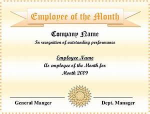 Employee Certificate Templates Free Employee Of The Month Certificate Free Apache OpenOffice Templates
