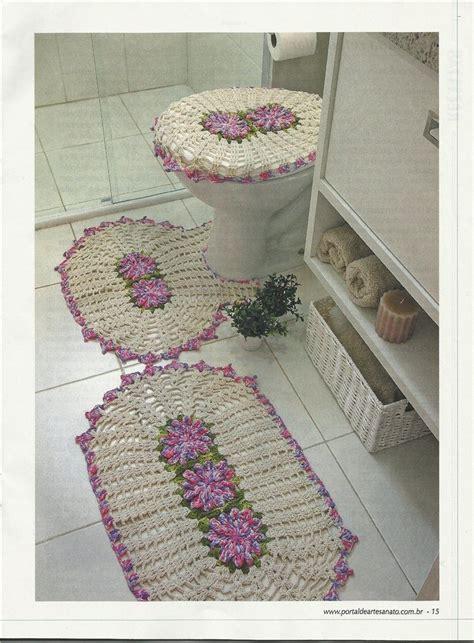 accessoires de salle de bain au crochet le monde creatif