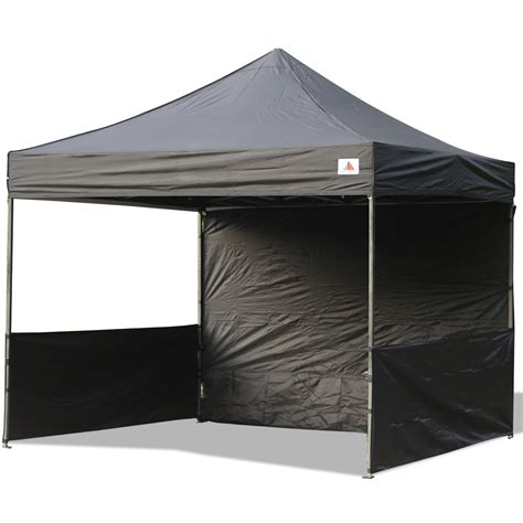 10x10 canopy with walls abccanopy 10x10 deluxe black pop up canopy trade show both