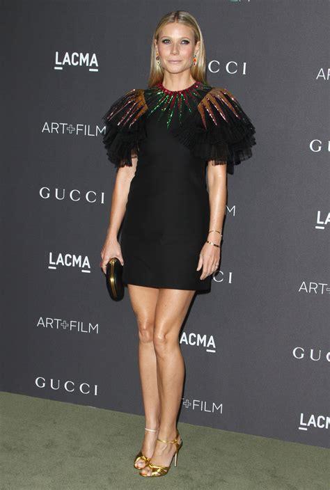 Gwyneth Paltrow Picks Leggy, Glittery Gucci for LACMA gala ...