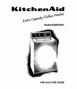 Kitchenaid Washer Kawe450v User Guide
