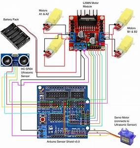 Building A 4wd Autonomous Car With Arduino  U2013 Codemahal