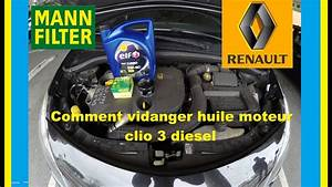 Huile Clio 3 1 5 Dci : vidange moteur filtre huile clio 3 dci 85 cv youtube ~ Medecine-chirurgie-esthetiques.com Avis de Voitures